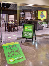 cafe promotional graphics